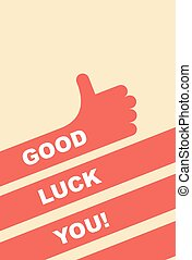 buena suerte, you., saludo, card.
