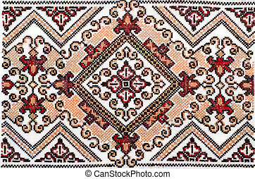 bueno, ucranio, ornamento, pattern., bordado, étnico, punto ...