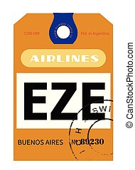 Buenos Aires airport luggage tag - Buenos Aires ...