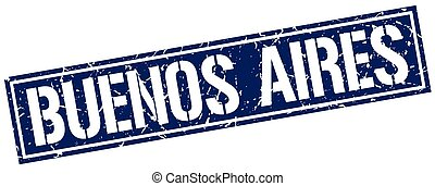 Buenos Aires blue square stamp