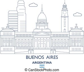 Buenos Aires City Skyline, Argentina - Buenos Aires Linear ...