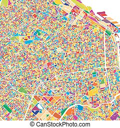 Buenos Aires Colorful Map, printable outline Version, ready ...