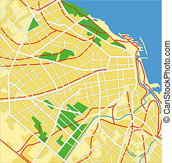 buenos aires - layered vector map of Buenos Aires.