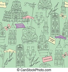 Buenos Aires pattern seamless design graphic - Buenos Aires ...