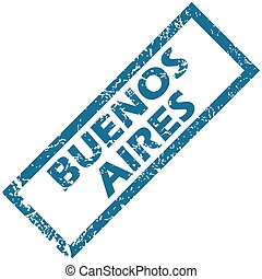 Buenos Aires rubber stamp - Vector blue rubber stamp with ...