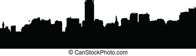 Buenos Aires Silhouette - Basic skyline silhouette of ...