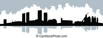 Buenos Aires Silhouette - Skyline silhouette of the modern ...