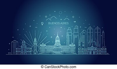 Buenos Aires skyline, Argentina - Buenos Aires skyline with ...