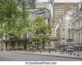Buenos Aires Urban Scene - Winter day urban scene with...