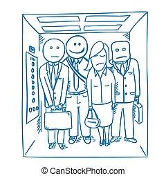buenos días, elevador