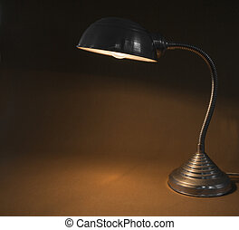 buero, lampe, weinlese