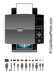 buero, tintenstrahl, printer/photocopier