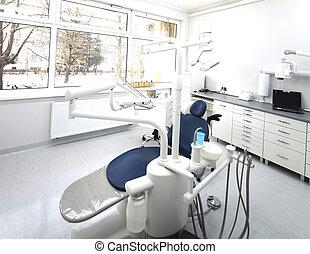 buero, zahnarzt, ausrüstung