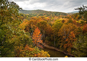 Bufallo River in the Autumn - The Bufallo River in Arkansas ...