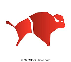 bufalo, disegno, icona