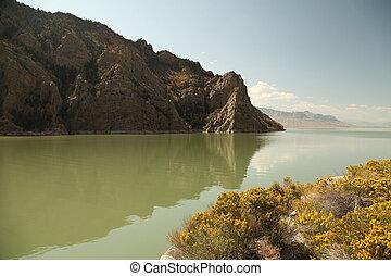 Buffalo Bill Reservoir in Wyoming