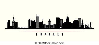 Buffalo city skyline horizontal banner.
