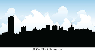 Buffalo City Skyline