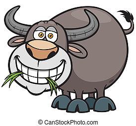 Buffalo - Vector illustration of Cartoon Buffalo