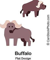 Buffalo Flat Icon