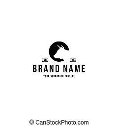 buffalo head design logo vector