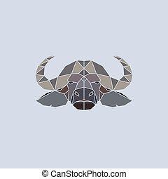 Buffalo head geometric