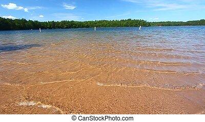 Buffalo Lake Northwoods Wisconsin - Beautiful swimming beach...