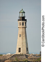 Buffalo Main Lighthouse, This tower is located directly...