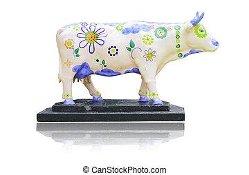 buffalo Puppet isolated on white background