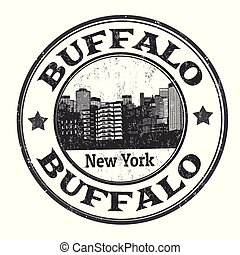 Buffalo sign or stamp