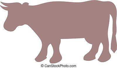 Buffalo silhouette - a buffalo silhouette
