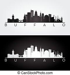 Buffalo USA skyline