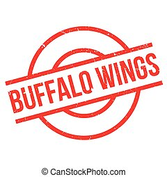 Buffalo Wings rubber stamp