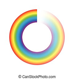 Buffering Circle Rainbow Colors