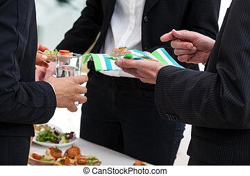 buffet, centro, ufficio, spuntini