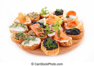 buffet food, canape