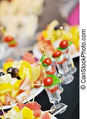 buffet food closeup