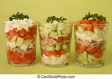 buffet food, fresh vegetable - verrine of fresh vegetable