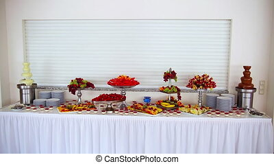 buffet: fruits are beautiful on the table