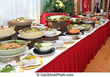 buffet, middag