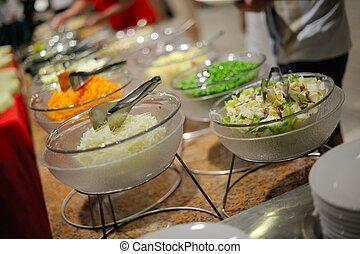 buffet, nourriture