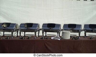 Buffet outdoors in restaurant