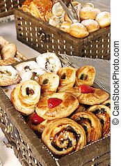 Buffet Pastries - Pastries at a breakfast buffet for guests ...