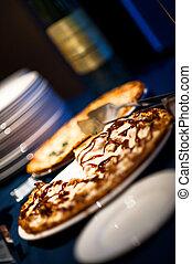buffet, pizza