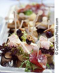 Buffet plate closeup