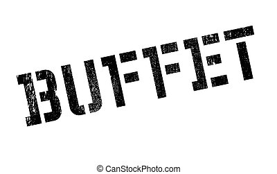 Buffet rubber stamp