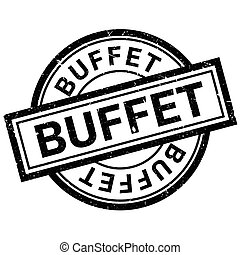 Buffet rubber stamp