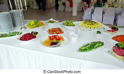 buffet: salads are nice on the table