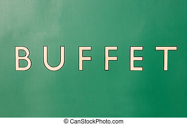 Buffet - The side of the buffet carriage of an old steam...