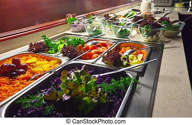 buffet, vegetales